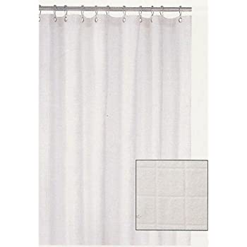 Harman WHITE Terry Cloth SHOWER CURTAIN Bathroom Decor