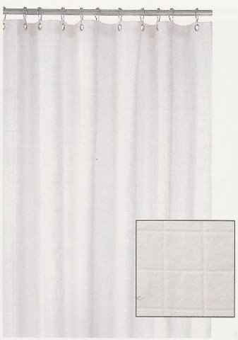 Harman WHITE Terry Cloth SHOWER CURTAIN Bathroom Decor