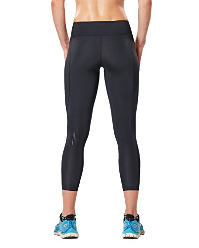 2XU Women's Mid-Rise 7/8 Compression Tights, Black/Dotted Black Logo, Small by 2XU (Image #2)