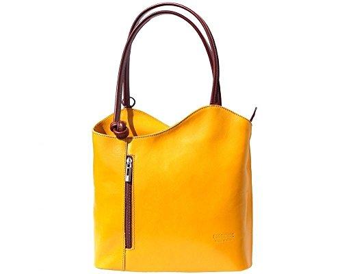 Florence Leather  207, Damen Rucksackhandtasche gelb gelb