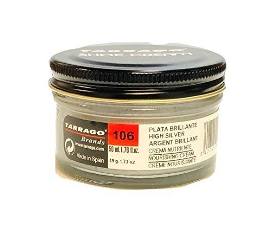 Leather Shoe Cream - Metallic color #106 - Bright Silver