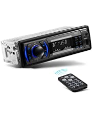 BOSS Audio Systems 616UAB Multimedia Car Stereo – Single Din LCD, Bluetooth Audio and Calling, Built-in Microphone, MP3 Player, WMA, USB, Auxiliary Input, AM/FM Radio Receiver, Wireless Remote Control