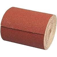 Rollo de papel abrasivo, 115 mm x 10 m, grano 40, papel de lija de óxido de aluminio