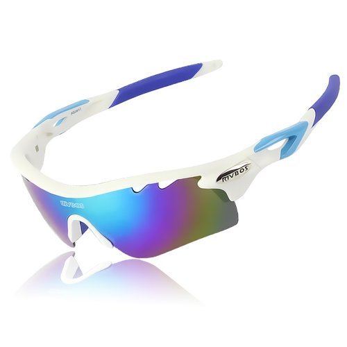 cdf14a0f6c3 RIVBOS 801 POLARIZED Sports Sunglasses with 5 Interchangeable Lenses  Fluorescent Color - Buy Online in UAE.