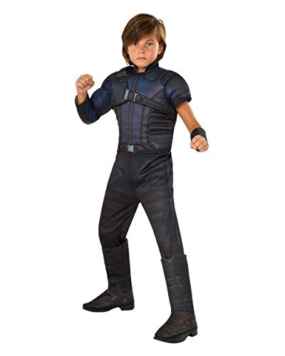 Hawkeye Costumes Boys (Rubie's Costume Captain America: Civil War Hawkeye Deluxe Muscle Chest Child Costume, Large)