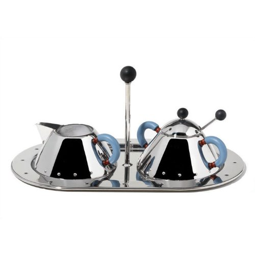 Alessi Michael Graves Creamer and Sugar Bowl w/ Tray Set by Alessi