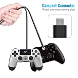 PS4 Controller Charger Charging Cable – 2 Pack