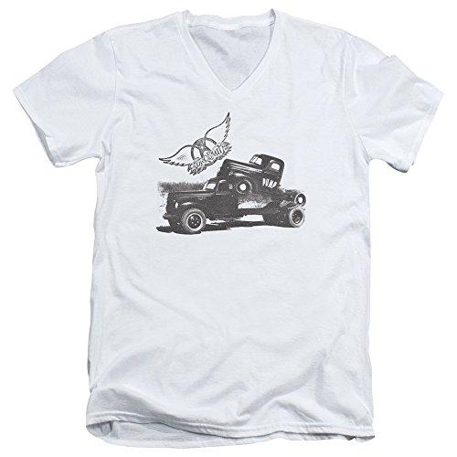 T À Encolure En Homme White shirt V Pompe Aerosmith 5gEwyqXB