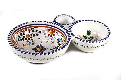 - El Puente del Arzobispo Colorful Flor Ceramic Olive Dish