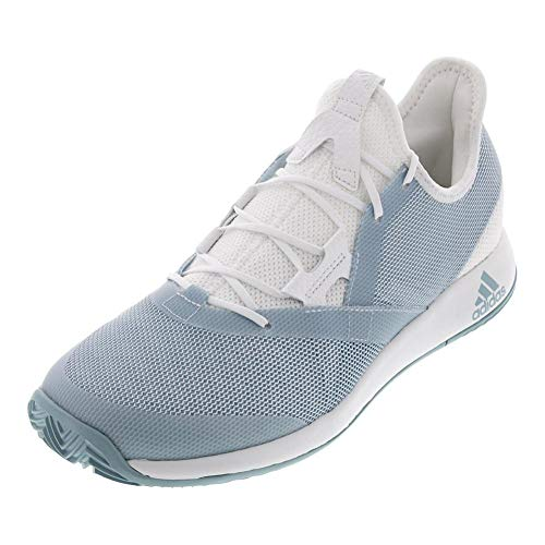 adidas Women's Adizero Defiant Bounce, ash Grey/White, 5.5 M US