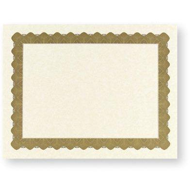 Metallic Gold Certificate Border Paper Stock