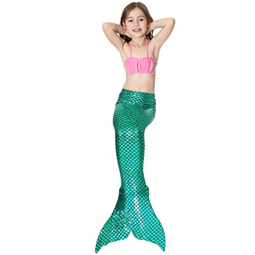 LOTOYS 3 Pcs Girls Swimsuit Bikini Mermaid Tails for Swimming Can Add Monofin Travel Back to School Office Gift by LOTOYS (Image #2)