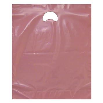 Amazon.com: Rosa bolsas de plástico – Asas de parche – 15