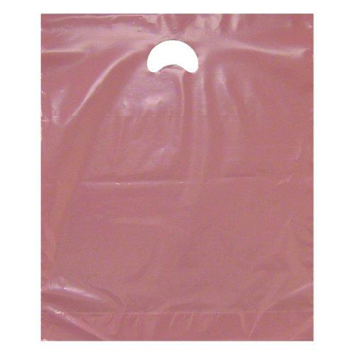 Rosa bolsas de plástico - parche asas - 38,1 cm x 45,72 cm + ...