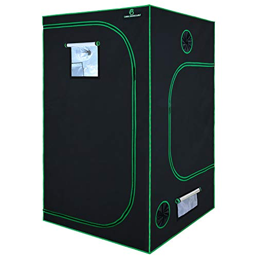GA Grow Tent,48x48x80 Reflective Mylar Hydroponic Grow Tent with Observation Window and Waterproof Floor Tray for Indoor Plant Growing