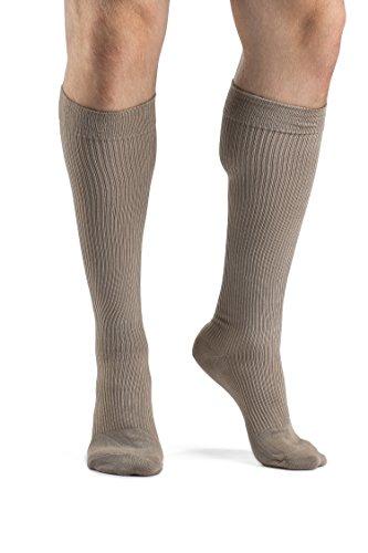 Men Casual Cotton - Sigvaris Men's Casual Cotton 186 Calf High Compression Socks 15-20mmHg