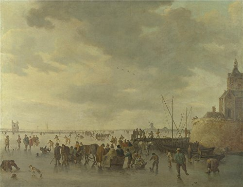 Oil Painting 'Jan Van Goyen A Scene On The Ice Near Dordrecht', 18 x 23 inch / 46 x 60 cm , on High Definition HD canvas prints is for - Center Westland Shopping