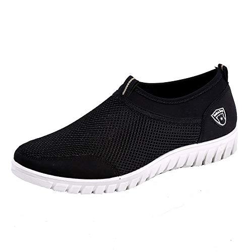 Sneakers Scarpe Nero Calzature Casual Mesh Alikeey Comode E Mocassini In Da Uomo Traspiranti IZqIwfH