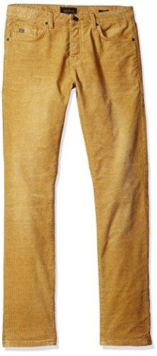 Scotch & Soda Men's Washed-Off and Denim Sprayed Corduroy 5-Pocket,Nutmeg,29x32