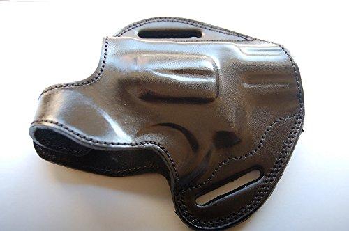 Cal38T6 Leather Belt Custom Holster for Taurus 605 357 Magnum Snub Nose Revolver (Black) (Best Cheap 357 Magnum Revolver)