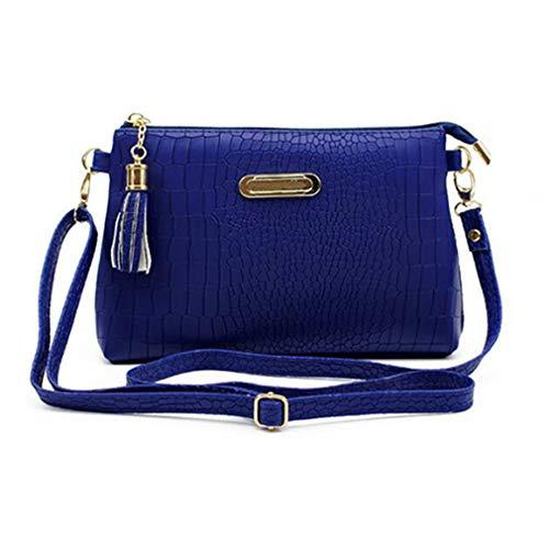 diseñador Gray Hombro de Dark Bolsos Blue de Mujeres Bolso 20x5x14cm de para borlas OY1q1H
