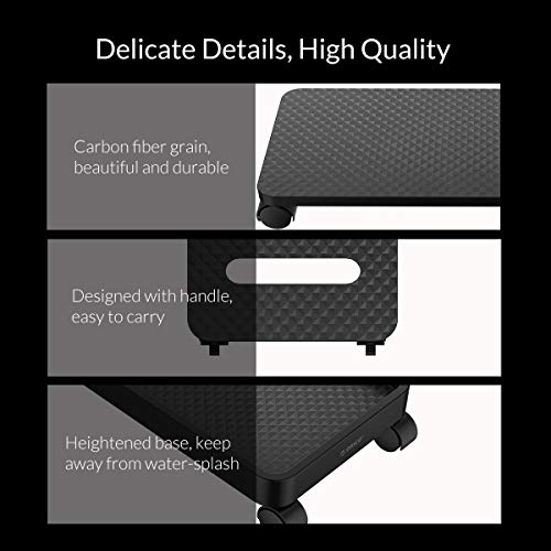ORICO ABS Computer CPU Stand with Wheels for Computer Cases PC Towers Waterproof CPU Holder Bracket-Black