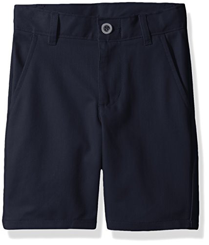 Nautica Little Boys' Flat Front Twill Short with Belt, Navy Blu Little, 4