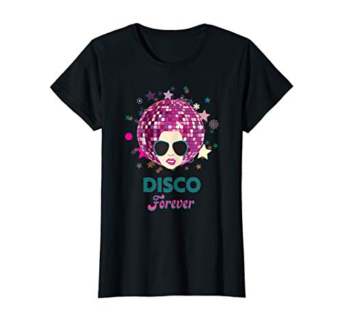 Womens 70s Music Disco Forever T-shirt Costume -