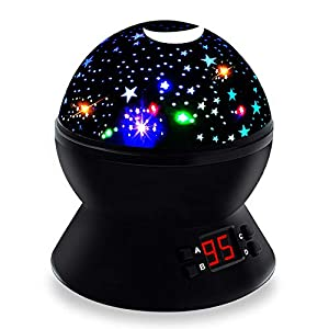 DIMY for Girls Boys Age 2-10, Multicolor Projector Star Night Lights Kids Toys for 2-10 Year Old Boys Girls Stocking Stuffer Fillers for Boys Kids Girls Black2 DMUSS3