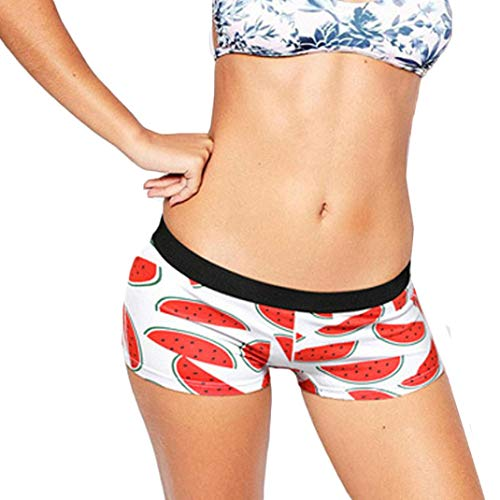 Anyren Womens Boxer Underpants Printing Sexy Briefs Shorts Underwear (Red, M)