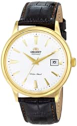 Orient Men's FER24003W0 Bambino Stainless Steel Watch with Brown Band