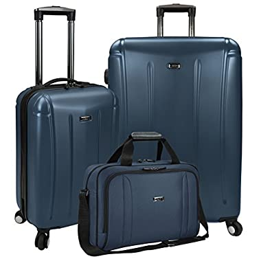 Travelers Choice U.S Traveler Hytop 3-Piece Spinner Luggage Set, Navy, One Size