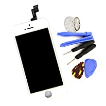 Original LCD Screen Display for iPhone 5S Replacement Part + Tools (White)