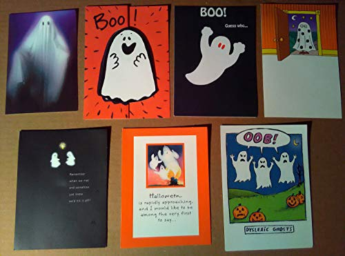 Vintage Halloween Greeting Cards Lot ~Ghosts ~1990s ~Scary -