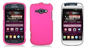 Bloutina Samsung Galaxy Ring M840 - Premium Accessory Kit - Hot Pink Hard Cover Case + ATOM LED Keychain Light + Screen...