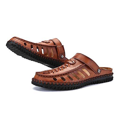 Sandali sportivi uomo pescatore da Sandali da scarpe spiaggia da spiaggia estivi in Sandali da Brown pelle all'aperto 8Sw1TSx