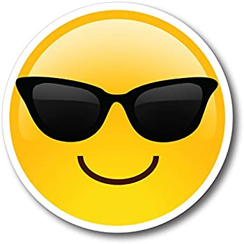 Amazon Com Smiley Face Emoji Magnet Decal Perfect For Car