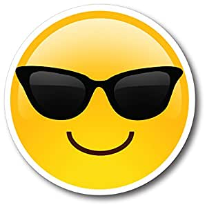 Amazon.com: Sunglasses Cool Emoji Magnet Decal Perfect for