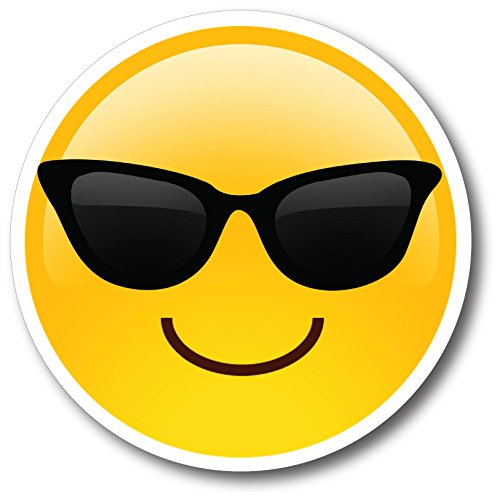 (Sunglasses Cool Emoji Magnet Decal Perfect for Car or)
