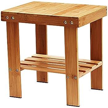 This Item IPOW Multifunctional Medium Size Bamboo Step Stool Seat W Storage Shelf For Kids Leisure Assembly NeededDurableAnti SlipLightweight Living