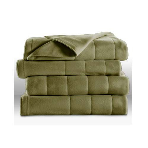 Sunbeam Royal Dreams Twin Quilted Fleece Electric Blanket Ivy Green (Sunbeam Royal compare prices)