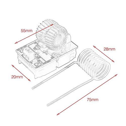 Harlls Modulo di Riscaldamento ad induzione Professionale a Bassa Tensione per Riscaldamento ad induzione 5V-12V 120W con Bobina