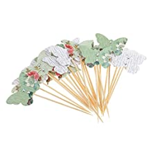 Dovewill Pieces of 30 Butterfly Cake Cupcake Topper Home Party Food Picks Baking Accessories