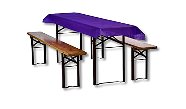 Mantel para mesa alargada, mantel de mesa, camino de mesa, tela, fieltro, tejido no tejido, tejido Jumborolle 0,8 x 100 m, morado lavable y lavable: Amazon.es: Hogar