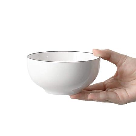 LXZWAN Recipiente de Cerámica Simple, Sopa de Fideos Arroz ...