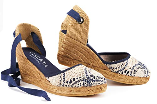 VISCATA Barcelona Sagaro - Crochet White Navy EU40