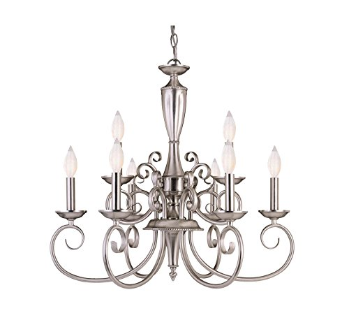 Savoy House KP-1-5007-9-69 Spirit 9-Light Chandelier in Pewter