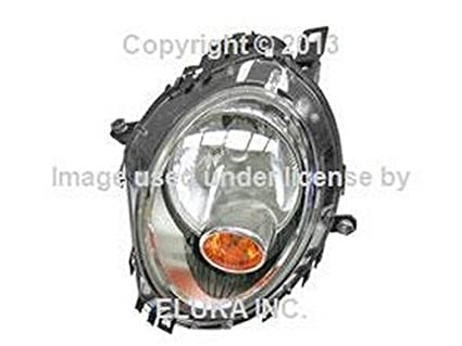 Mini OEM Headlight Assembly (Halogen) with Yellow Turn Signal Left R55 R55N Coop.S JCW Cooper Cooper S Coop.S JCW Cooper Cooper S Coop.