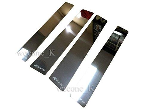 Pickup Stainless Pillar Posts - Stainless Steel Door Window Pillars Pillar Post Trim Exterior Outside For Toyota Hilux Revo Pickup 2015 2016