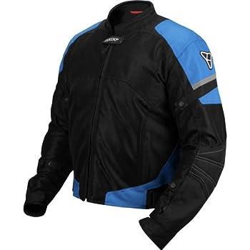 Pilot Motosport Mens Direct Air Mesh Motorcycle Jacket (V3) (Blue, Large)